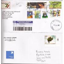 Envelopes Circulados. Brasil E Portugal.