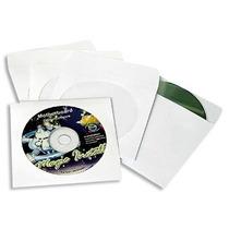 Pack C/ 100 Envelopes De Papel Branco P/ Cd Ou Dvd