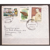 Envelope Circulado Do Chile P/brasil.