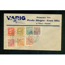 Varig -1º Vôo Porto Alegre- Cruz Alta.envelope Novo