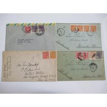 Vovó, Quatro Envelopes Circulados Do Brasil Para Exterior