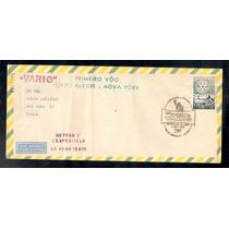 Varig-envelope 1º Vôo Porto Alegre- Nova Iorque