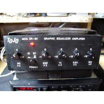 Amplificador E Equalizador Tojo Gr 60 Carro Antigo Fusca Vw