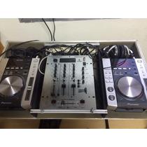 Par De Cdj 200 + Mixer Behringer + Case + Fone