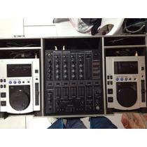 Mixer Pioneer Djm-500 + 2 Cdj-100s + Case Rígido