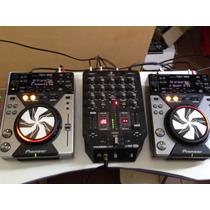 Cdj 400+mixer +caser Pc