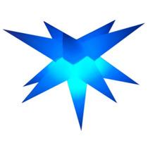 Sputnik Estrela 11 Pontas 80cm,completo E Com Efeito Em 3d