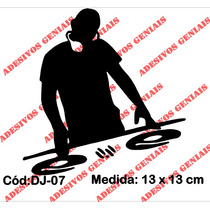 Adesivo Decorativo Dj Deejay Mixer Toca Disco Pickup - Dj-07