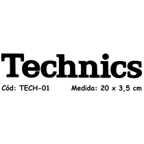 Adesivo Toca Disco Fone Ouvido Technics Dj Dee Jay Tech-01