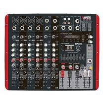 Mesa De Som Amplificada 600w Rms 8 Canais Nvk-800p Usb