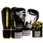 Kit Boxe Pretorian Luva + Canela + Band + Bucal 16oz Preta