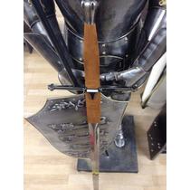 Espada Medieval 1.31m Decorativa C/suporte Madeira De Parede