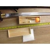 Espada Katana Samurai Ninja Treinos Com Kit Limpeza