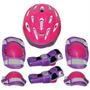 Kit Proteção 7 Itens Skate Rollers Bicicleta Patins (rosa) G