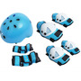 Kit Snoopy Proteção+capacete Infantil Azul Patins Skate Bike