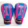 Luva Boxe Muay Thai Pu 12oz Feminina - Thunder Fight
