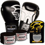 Kit Boxe Training Pretorian -12 Oz Preto