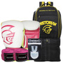 Kit Boxe Pretorian 10oz Branco E Pink + Mochila Maxi Top