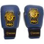 Luva Boxe Couro Pro Com Cadarço - Pretorian - Azul - 10oz