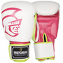 Luva De Boxe Pretorian Training (branco E Pink) (10oz)