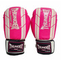Luva Boxe Muay Thai Feminina Rosa Profissional 10oz Thunder
