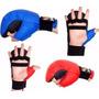 Luva Para Karate Ecocouro Alta Resistência Fechamento Velcro