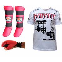 Super Kit Luva Karate ,caneleira, Camiseta ,garantia 6 Meses