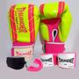 Kit Feminino Boxe - Luva Bandagem Bucal - Thunder Fight
