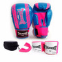 Kit 10 Oz Feminino Boxe Muay Thai Luva Band. Bucal - Thunder