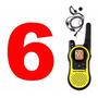 6 Radio Comunicador Motorola Talkabout Mh230 37km Com Fone