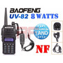 Radio Ht Dual Band Uhf Vhf Baofeng Uv-82 Bateria 2800 M + Nf