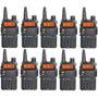 Kit 10 Rádio Ht Dual Band Uhf Vhf Baofeng Uv-5r 10 Unidades