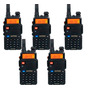 Kit 5 Rádio Dual Band Baofeng Uv-5r 136-174/400-520 Mhz Fone