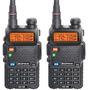 Kit 2 Rádio Ht Dual Band Uhf + Vhf Baofeng Uv-5r 2 Unidades