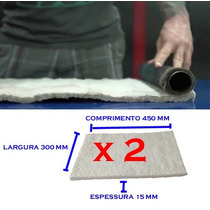 02 Unidades Lã Cerâmica Escape De Moto, Superior Lã De Vidro