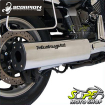 Escapamento Custom Scorpion Modelo Black Midnight Star 950