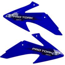 Aletas Laterais Tanque Crf 230 Pro Tork Azul Motocross