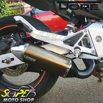 Escape / Ponteira Alumínio Modelo Dore - Ninja 300 R - Bronz