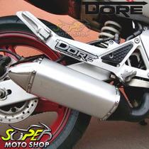 Escape / Ponteira Alumínio Modelo Dore - Ninja 300 R - Prata