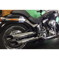 Ponteira Harley Softail Fatboy 3 Lateral Customer Cromada