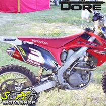 Escape Ponteira Alumínio Dore + Curva Crf 250 R 06.. Vermelh