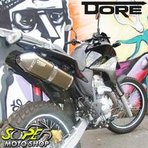 Escape Ponteira Alumínio Dore Falcon 400i Ano 2013 Bronze