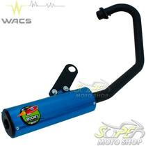 Escape Ponteira Wacs Rocket Cg 150 Fan Titan Esdi 09/13 Azul