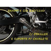 Ponteira Bandit/gsx 650/1250 + Db Killer 100% Inox