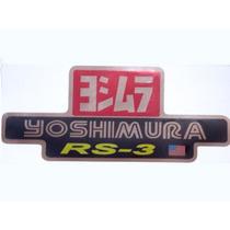 Adesivo Yoshimura Rs 3 Lançamento P/ Escapamento De De Moto
