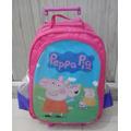 Peppa Pig- Mochila Escolar De Rodinhas - Pronta Entrega