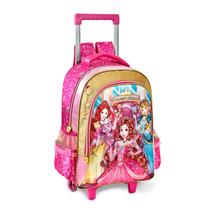 Mochila Infantil Escolar Rodinhas Princesas Magicas Pr6146k