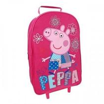 Mochila Da Peppa Pig Infantil De Rodas Patchwork Licenciada