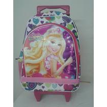 Mochila Carrinho Barbie E O Portal Secreto C/rodinha - Tam G