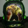 Mochila Escolar De Menino Rodinhas Hulk- Vingadores